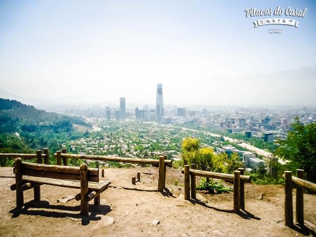Vista Cerro San Cristóvan, Santiago