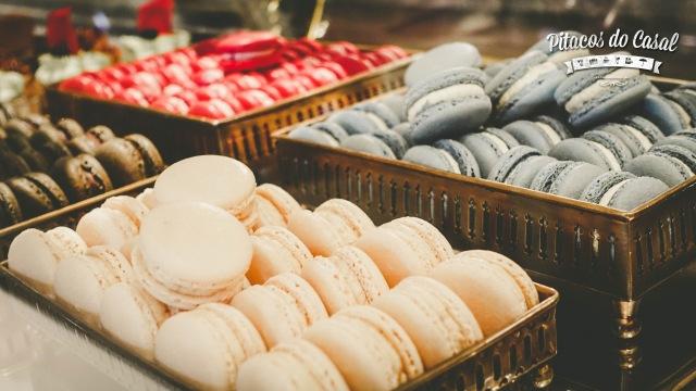Os tradicionais macarons